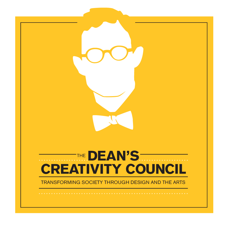 Illustration of Dean Tepper with the title: the Dean's Creativity Council