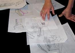 Interior designer working on a plan concept