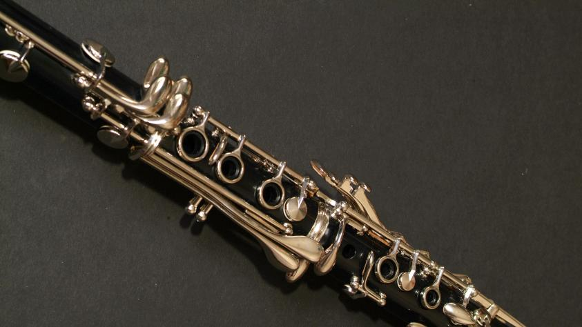 Clarinet with dark background