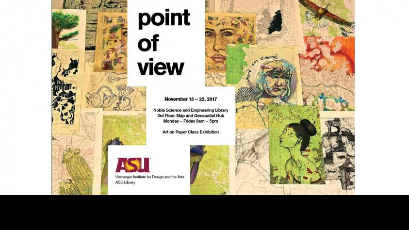 Poster with ASU logo for Point of view