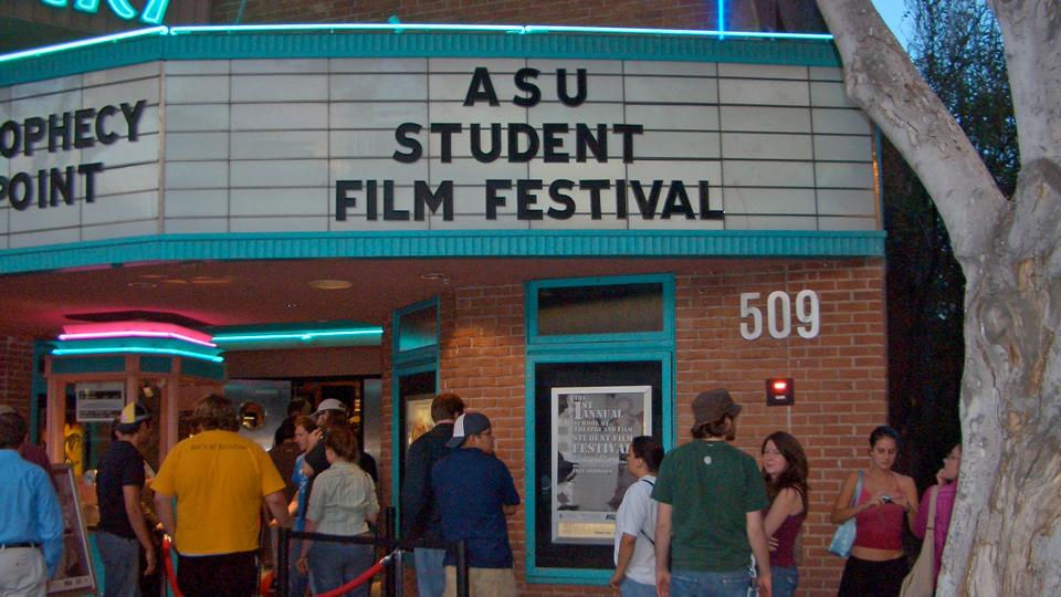 ASU Student Film Festival Sign