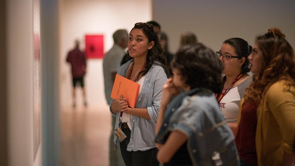 Students at the ASU Art Museum