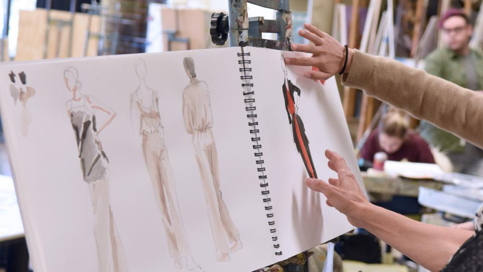 fashion illustration class at ASU