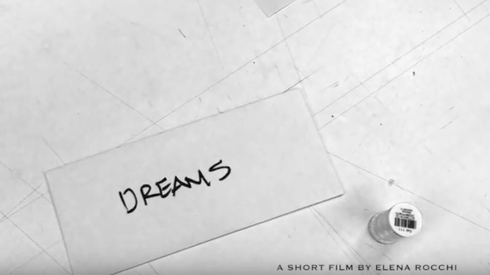 White envelope with the word Dreams