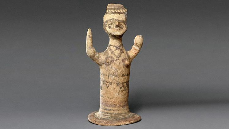 old clay figurine
