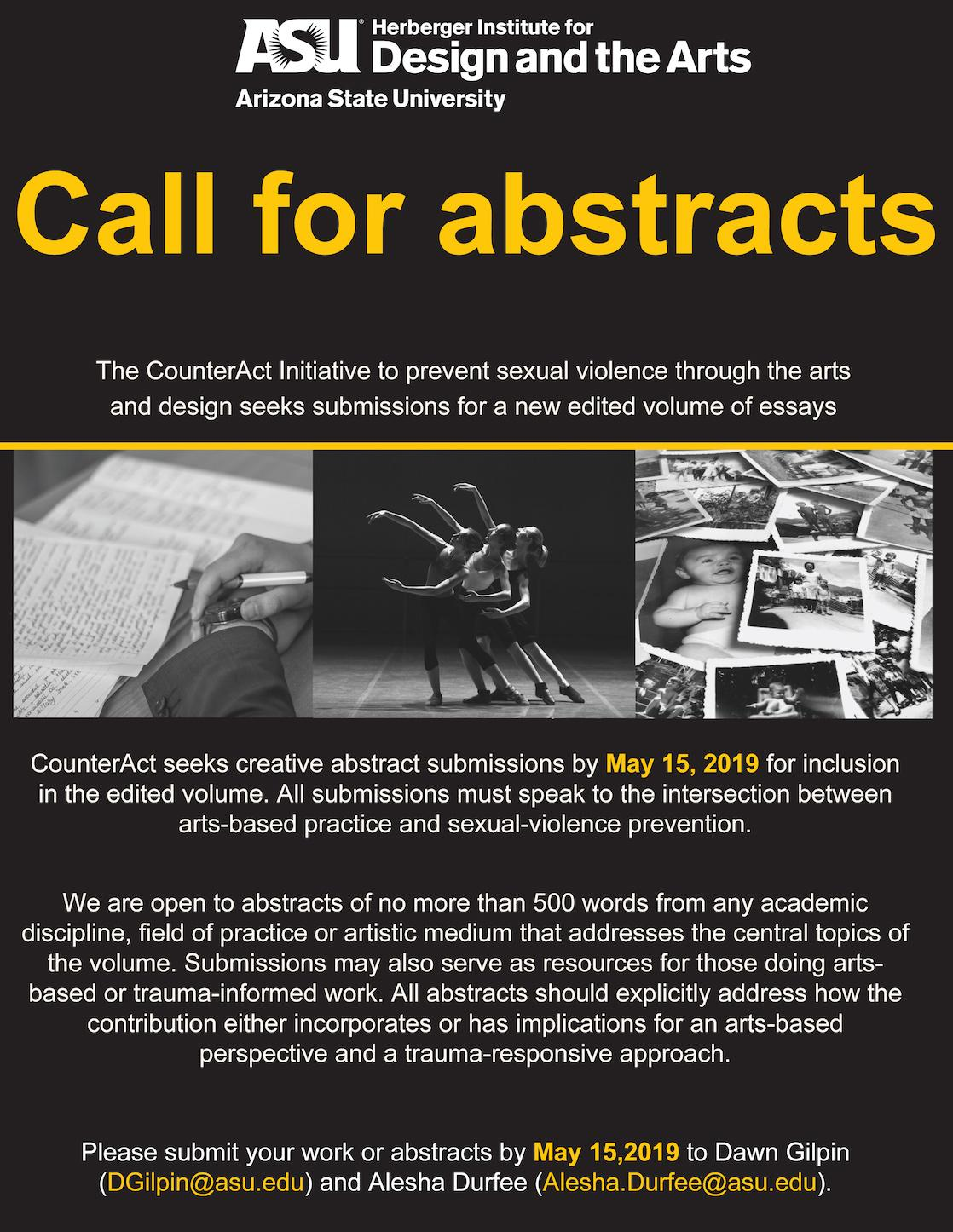 CounterAct - Call for abstracts poster - due May 15, 2019